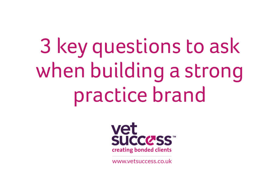 3 key questions to ask when building a strong vet practice brand